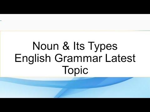 Noun & Its Types English Grammar Latest Topic Urdu   Hindi