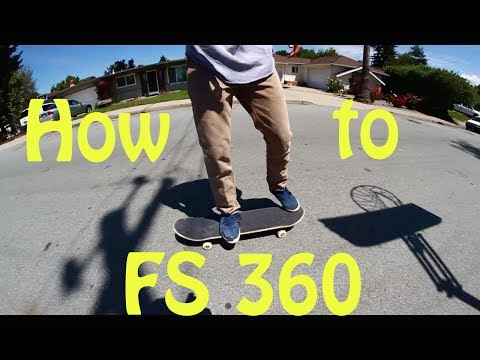 How to ollie FS 360 on a skateboard [EASY]