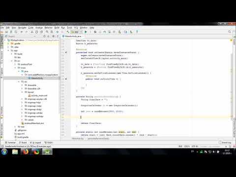Develop Random Date Generator in Android Studio