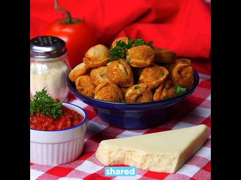 Fried Tortellini with Spicy Tomato Dip