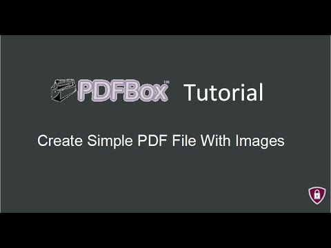 PDFBox Tutorial # 4 |  Create Simple PDF File With Image in java