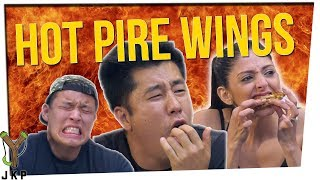 ultimate hot wing challenge we try the scorpion rum hot wing