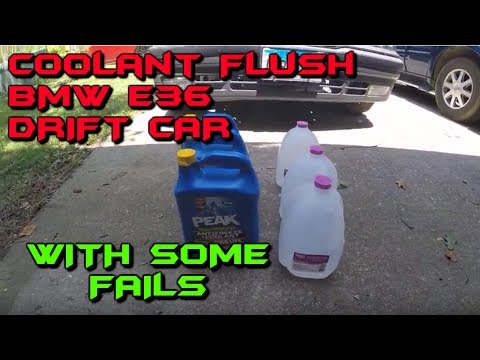 Flushing & Replacing Engine Coolant in a BMW E36