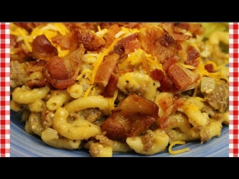 Bacon Cheeseburger Mac ~Homemade Cheeseburger Macaroni Recipe ~ Noreen's Kitchen