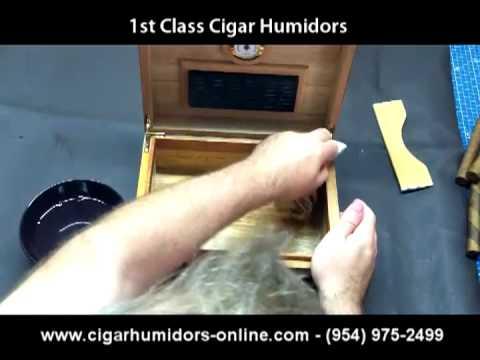 How to Season a Humidor - Humidor Set Up & Preparation