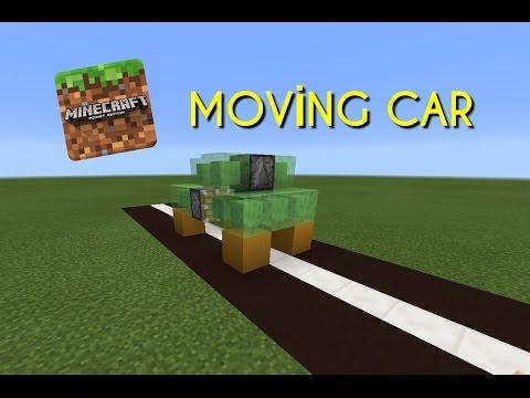 Minecraft(Pocket Edition) MOVİNG CAR ! l Minecraft (Pocket Edition ) HAREKET EDEN ARABA !