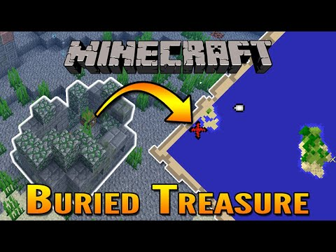 Minecraft 1.13 Aquatic Update | How To Find Buried Treasure in Minecraft