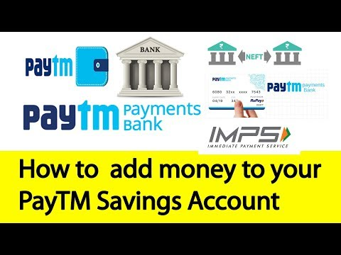 How to add Money to Paytm Savings Account | Tamil Banking