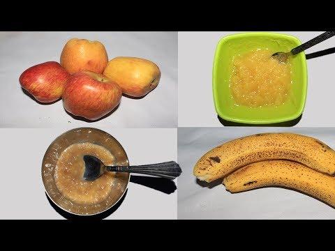 How to make Apple puree and Banana puree for babies at Home