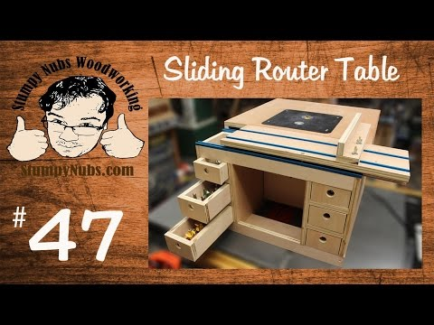 SNW47- Build your own Festool CMS style homemade router table with sliding table