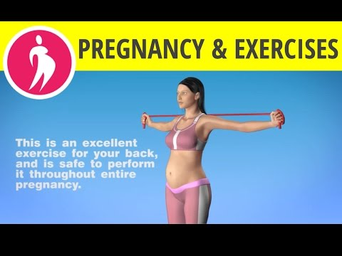 Pregnancy Exercises during First Trimester: Arms and Back Workout with Elastic Band