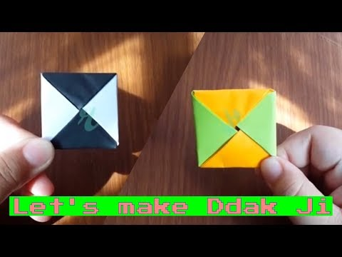 Make an Origami Ddak Ji / 딱지 (Korean Traditional Games)