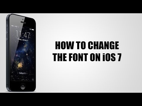 How to change the font on iOS 7