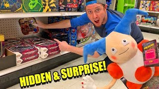 HIDDEN POKEMON CARD SEARCH and SURPRISE w/ NEW DETECTIVE PIKACHU TOYS at Target! Opening Packs