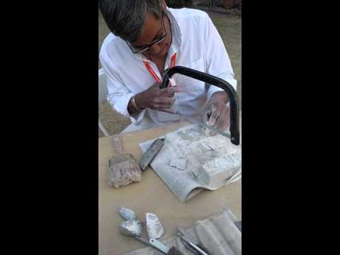 Live Demo Stone Carving  at the Tucson Gem show pt 1