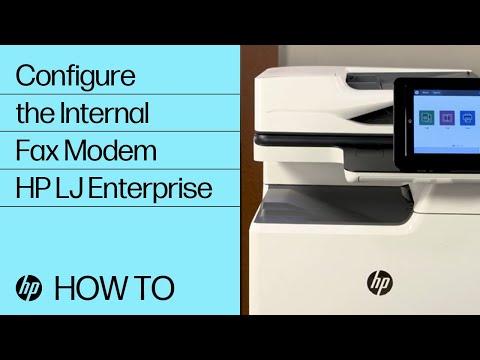 How To Configure the Internal Fax Modem on HP LaserJet Enterprise MFPs