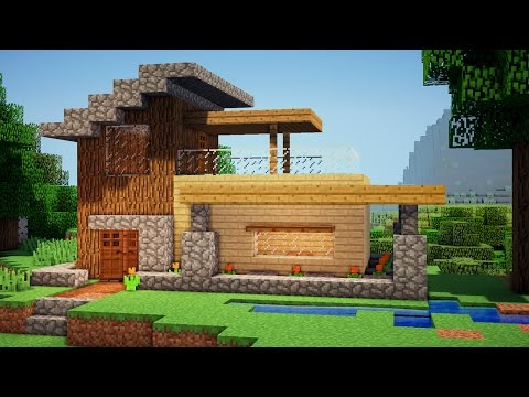 Minecraft: Easy Wooden House Tutorial - How to Build a House in Minecraft