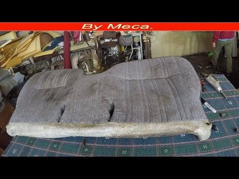 How to make toyota tacoma  bench seat | Making a Bench seat cover part 1-3 . Auto upholstery