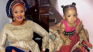 Two Daughter Left Behind By Late Actress,Moji Olaiya, As Moji's Mother Play With The Little Angel