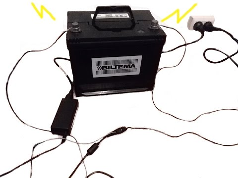 How to charge a car battery without a proper battery charger