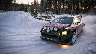 Craig Breen Full Attack! Citroen WRC 2017 Winter test