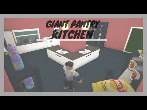 How To Build A Giant Pantry / Kitchen : Welcome To Bloxburg | Speed Build