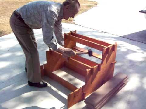 Quick set up Wood RV steps