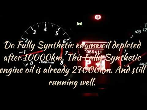 The truth @ Fully Synthetic Engine oil. I will change it at 30k km.