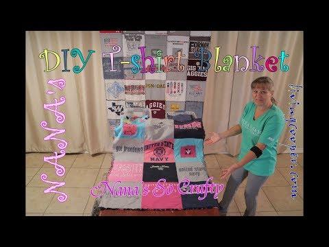 Nana's So Crafty - Nana's DIY T-shirt Blanket How To