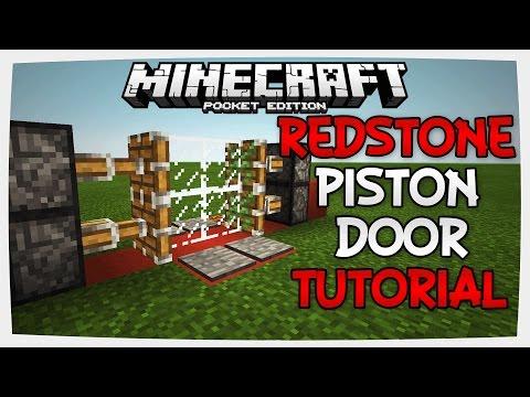 (0.15.0) Minecraft PE | Redstone 2x2 Piston Door Tutorial | Redstone Tutorial