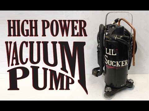 Make a Vacuum Pump for AC in Cars, HVAC, or FUN