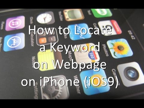 How to Locate a Keyword on Webpage on iPhone and iPad and iPad