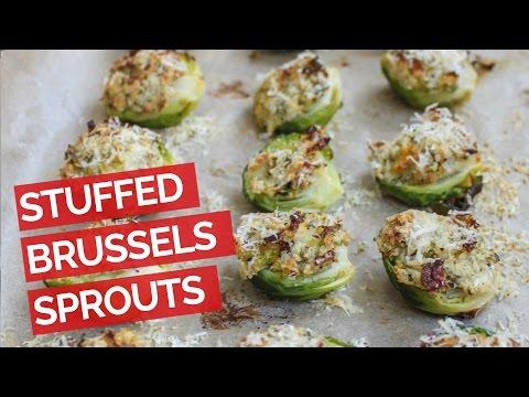 Garlic Herb Stuffed Brussels Sprouts Recipe