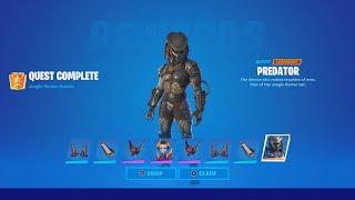 TIPS TO DEFEAT PREDATOR (How To EASILY Unlock The Predator Skin In Fortnite)