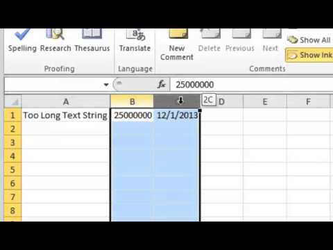 Excel 2010: How To Change Rows and Column Widths - Tutorial Tips and Tricks