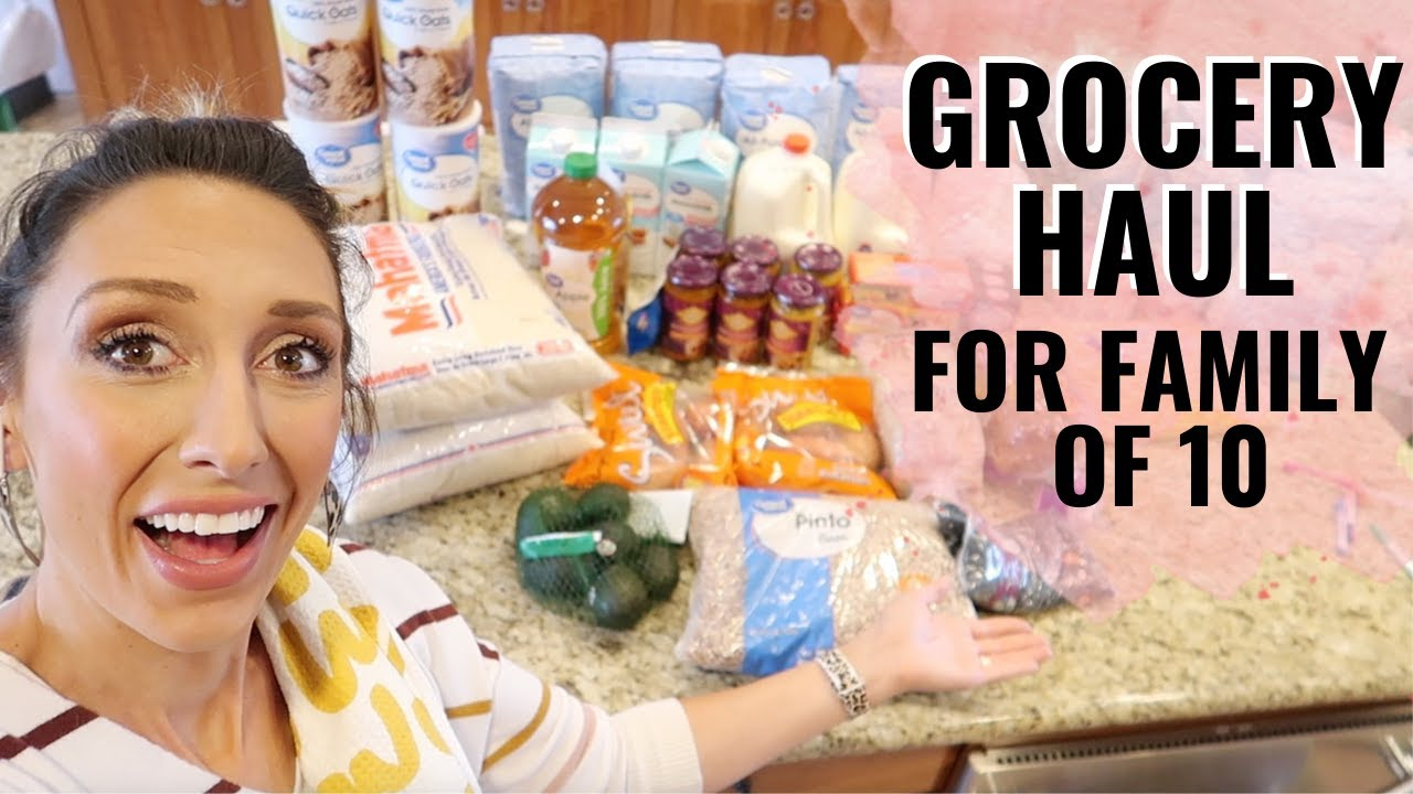 Groceries for a family of 10! | Stock-up grocery haul for $200!
