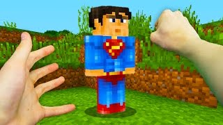REALISTIC MINECRAFT - STEVE BECOMES SUPERMAN! 💥