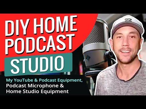 DIY Home Podcast Studio - My YouTube & Podcast Equipment, Podcast Microphone & Home Studio Equipment