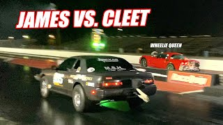 James vs. Cleetus GRUDGE RACE! Ruby Was On BIG BOOST! Was It Enough???