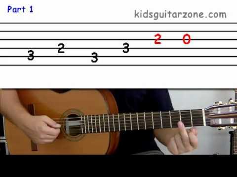 Guitar lesson 5 : Beginner -- 'La Bamba' on four strings