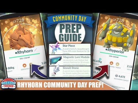 Xxx Mp4 START NOW TOP TIPS FOR SHINY RHYHORN COMMUNITY DAY PREP 3X STARDUST Amp RHYPERIOR POKÉMON GO 3gp Sex