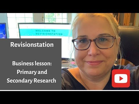 Primary and Secondary Research