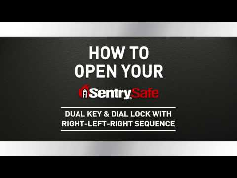 How to Open a Sentry®Safe Combination Dial and Dual Key Fire Safe, with Right-Left-Right Sequence