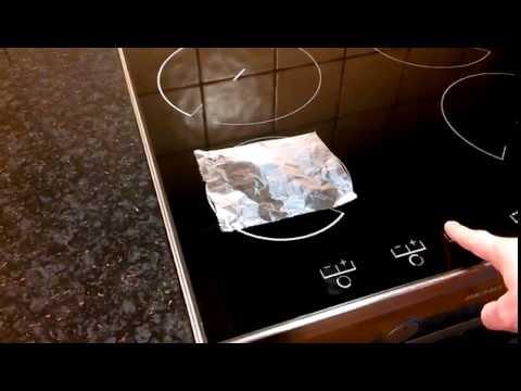 Aluminum foil on induction top