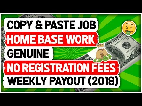 Copy & Paste Job, Home Base Work, Genuine, No Registration Fees Weekly Payout (2018)