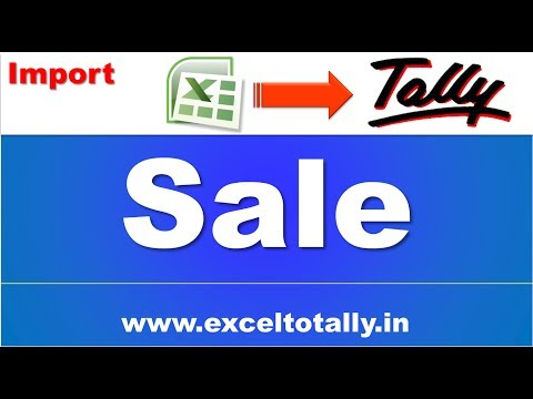 Import Sales From Excel to Tally Without Inventory | CVR | English ☑️
