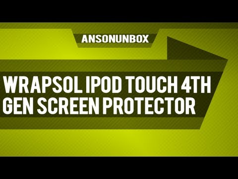 Wrapsol iPod Touch 4th Gen Screen Protector [Unboxing]