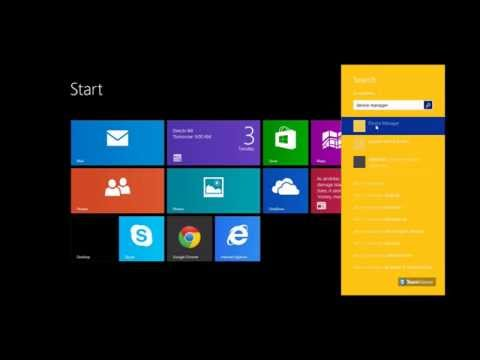 How to disable the Touch Screen on Windows 8