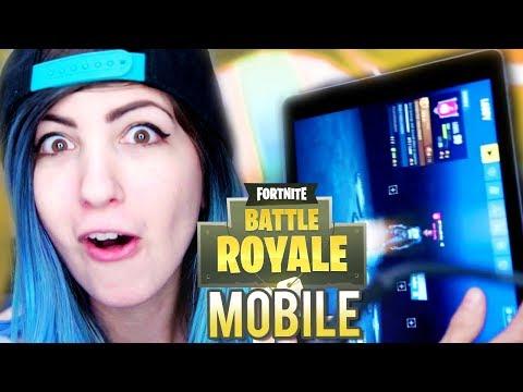 MOBILE FORTNITE: BATTLE ROYALE Gameplay on iPad!
