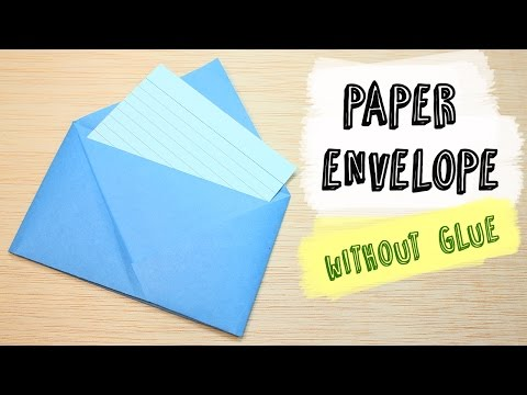 How to make a Paper Envelope without Glue | DIY Origami